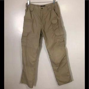 Tactical 5.11 Tan Cargo Pants. Size 32